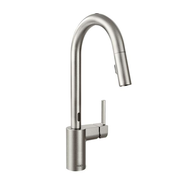 Moen Align Collection Motionsense Pulldown Kitchen Faucet 1 Handle Stainless Steel Lowe S Canada