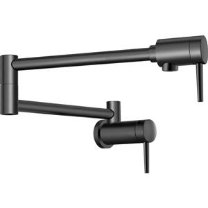 Delta Wall-Mount Pot Filler Faucet - Matte Black