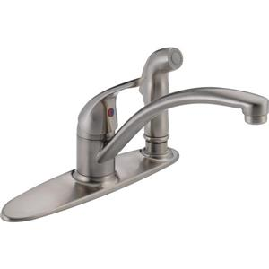 Delta Kitchen Faucet with Spray - Stainless Steel