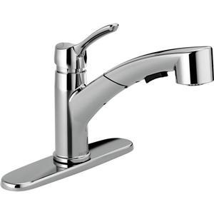 Delta Collins Pull-Out Kitchen Faucet - Chrome