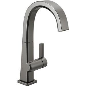 Delta Pivotal Single Handle Bar/Prep Faucet, Black Stainless