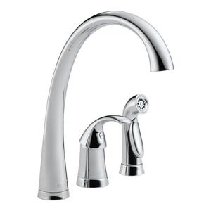 Delta Pilar Kitchen Faucet with Spray - Chrome