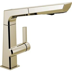 Delta Pivotal Pull-Out Kitchen Faucet - Polished Nickel