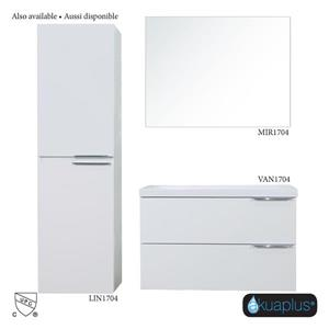 Akuaplus Mia Wall-Mounted Bathroom Vanity - White Finish