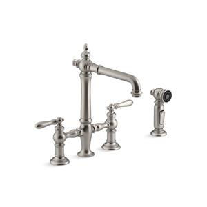 KOHLER Artifacts High-Arc Kitchen Sink Faucet - 2-Handle - Stainless Steel