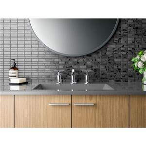 KOHLER Purist Bathroom Faucet with Drain - 2-Handle - Polished Chrome