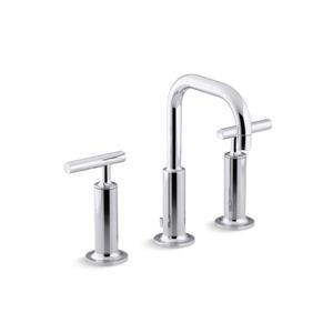KOHLER Purist Bathroom Sink Faucet - 2-Handle - Low Gooseneck Spout - Polished Chrome