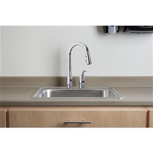 KOHLER Simplice Pull-Down Kitchen Sink Faucet - 1-Handle - Matte Black