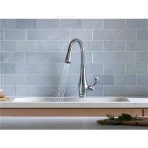 KOHLER Cruette High-Arc Kitchen Sink Faucet - 1-Handle - Polished Chrome