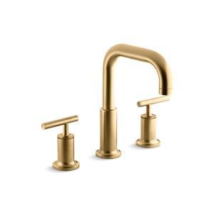 KOHLER Purist Bathtub Faucet - 2-Handle - Brushed Gold