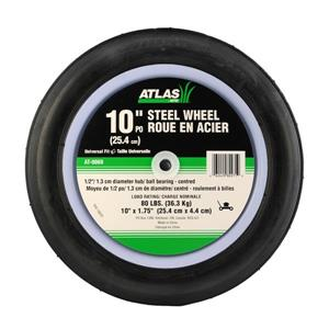 Atlas Replacement Steel Lawn Mower Wheel - 10-in x 1.75-in