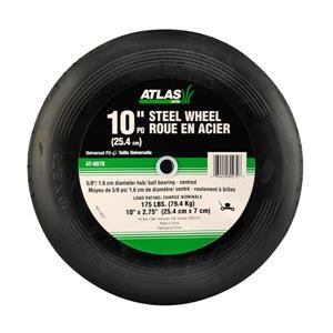 Atlas Replacement Steel Lawn Mower Wheel - 10-in x 2.75-in