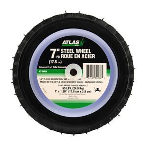 Atlas Replacement Steel Lawn Mower Wheel - 7-in
