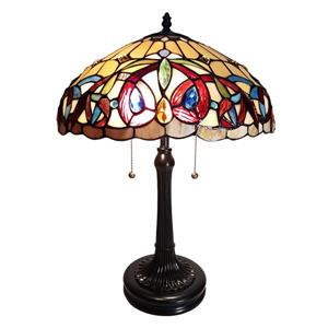 Fine Art Lighting Tiffany Table Lamp - Glass - 23-in - Red and Vintage Bronze