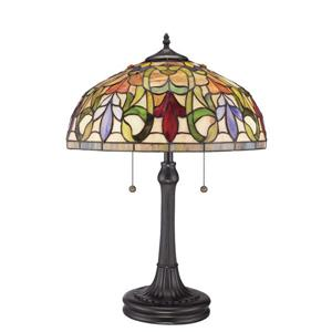 Fine Art Lighting Tiffany Table Lamp - Glass - 23-in - Yellow and Vintage Bronze