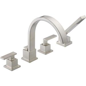 Delta Vero Deck Mount Roman Tub Faucet - 8.75-in. - Stainless Steel