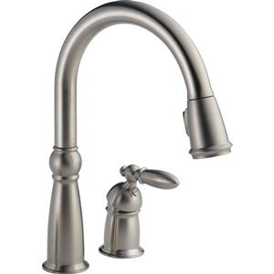 Delta Victorian Kitchen Faucet - 14.25-in. - 1-Handle - Stainless Steel