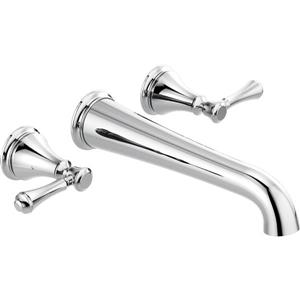 Delta Cassidy Wall Mount Bathtub Faucet - 13.25-in. - Chrome
