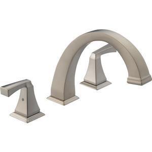 Delta Dryden Deck Mount Roman Tub Faucet - 9-in. - Stainless Steel