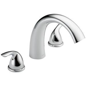 Delta Classic Deck Mount Roman Tub Faucet - 8.13-in. - Chrome