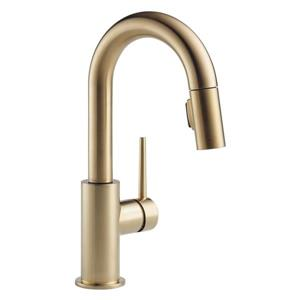 Delta Trinsic Bar and Prep Faucet - 13-in. - 1-Handle - Champagne Bronze