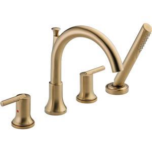 Delta Trinsic Deck Mount Roman Tub Faucet - 10-in. - Champagne Bronze