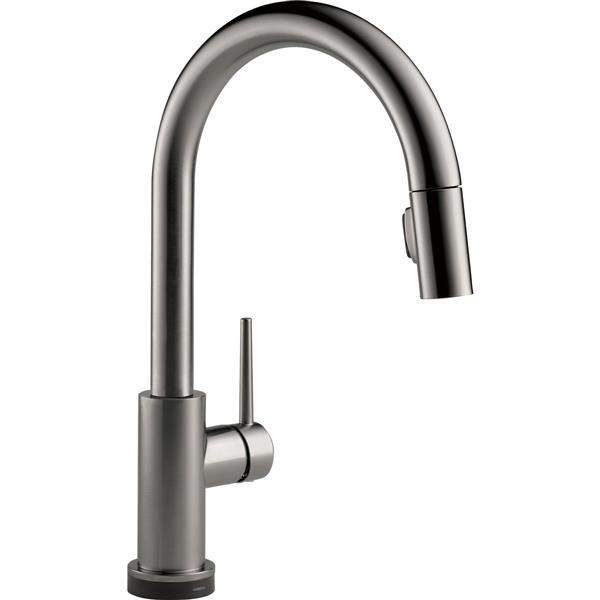 Delta Trinsic Touch2o Kitchen Faucet 15 69 In Black Stainless Lowe S Canada