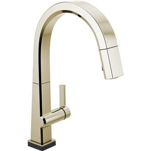 Delta Pivotal Kitchen Faucet - 16-in. - 1-Handle - Polished Nickel