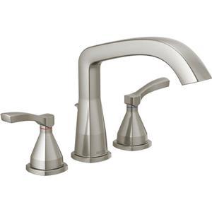 Delta Stryke Deck Mount Roman Tub Faucet - 9.72-in. - Stainless Steel