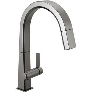 Delta Pivotal Kitchen Faucet - 15.5-in. - 1-Handle - Black Stainless