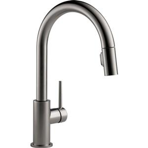 Delta Trinsic Kitchen Faucet - 15.69-in. - 1-Handle - Black Stainless