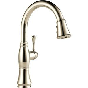 Delta Cassidy Kitchen Faucet - 15.5-in. - 1-Handle - Polished Nickel