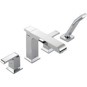 Delta Arzo Deck Mount Roman Tub Faucet - 10-in. - Chrome