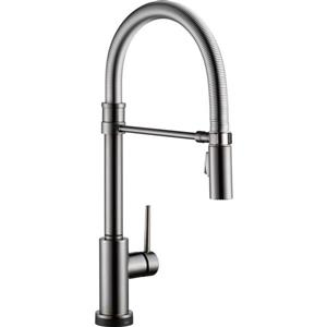 Delta Trinsic Kitchen Faucet - 19.5-in. - 1-Handle - Black Stainless