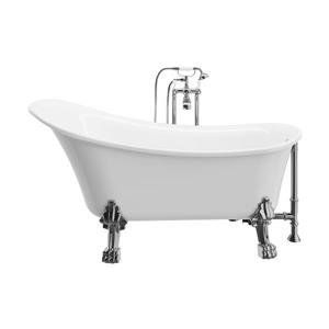 A&E Bath & Shower Dora Clawfoot tub with faucet - 59-in - White