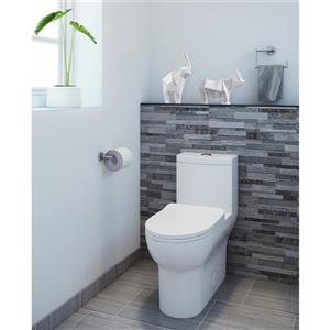 A&E Bath & Shower Laura One Piece Ceramic Toilet - White