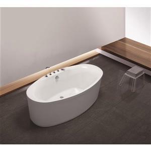 A&E Bath & Shower Dallas Freestanding Tub No Faucet - 67-in - White
