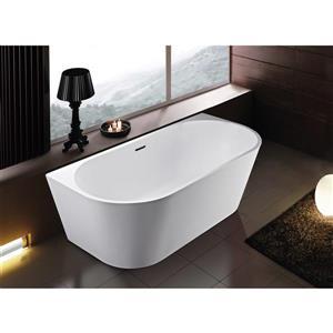 A&E Bath & Shower Rialto Freestanding Bathtub - 59-in - White