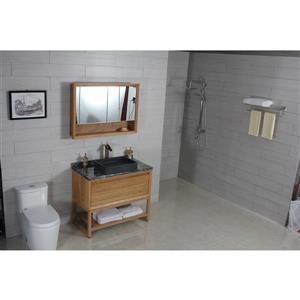 A&E Bath & Shower Heidi Over the Counter Vessel Stone Basin Sink