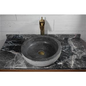 A&E Bath & Shower Hilda Over the Counter Vessel Stone Basin Sink