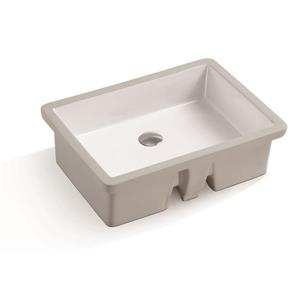 A&E Bath & Shower Isla Undermount Ceramic Basin Sink, Glossy White