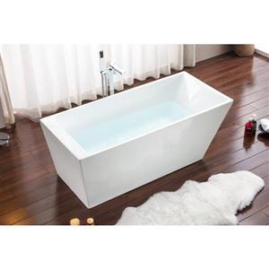 A&E Bath & Shower Boston Freestanding Bathtub - 59-in - White
