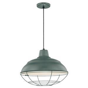 Millenium Lighting R Series Warehouse 1-Light Cord Hung Pendant Light - 17-in - Satin Green
