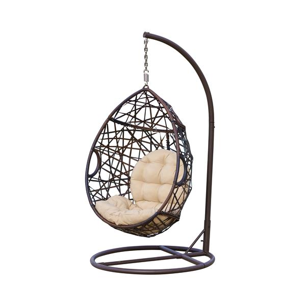 Best Selling Home Decor Cutter Outdoor Hanging Chair 38 In X 23 5 In Brown Wicker Lowe S Canada