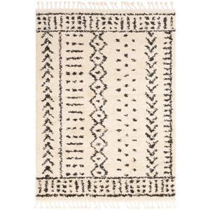 Surya Berber Shag Bohemian Area Rug - 7-ft 10-in x 10-ft 3-in - Rectangular - Ivory