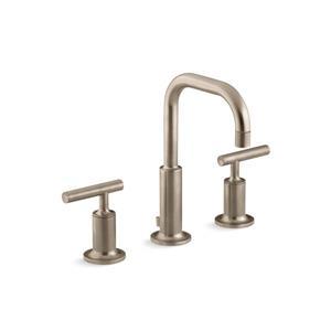 Kohler Purist Widespread Bathroom Sink Faucet with High Gooseneck Spout
