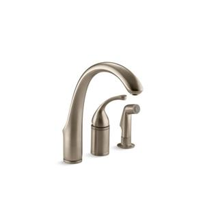 KOHLER Forté Single-Hole or 3-Hole Kitchen Sink Faucet - Bronze