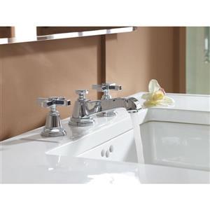 Kohler Pinstripe Pure Widespread Bathroom Sink Faucet - Chrome