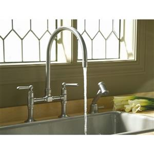 KOHLER HiRise Two-Hole Kitchen Sink Faucet
