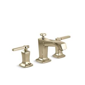 Kohler Margaux Widespread Bathroom Sink Faucet with Lever Handles - Gold